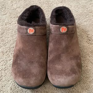 Merrell Primo Chill Slide Mules Leather Lined Shoe